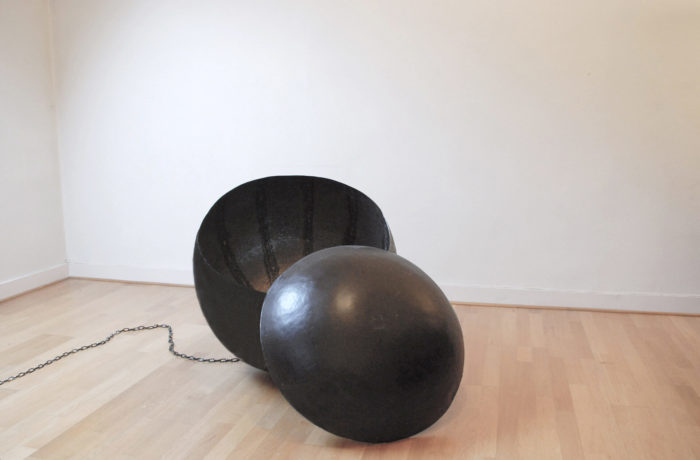 Zainab Andalibe Boulet, 2015, tôle martelée, Le Cube independent art room