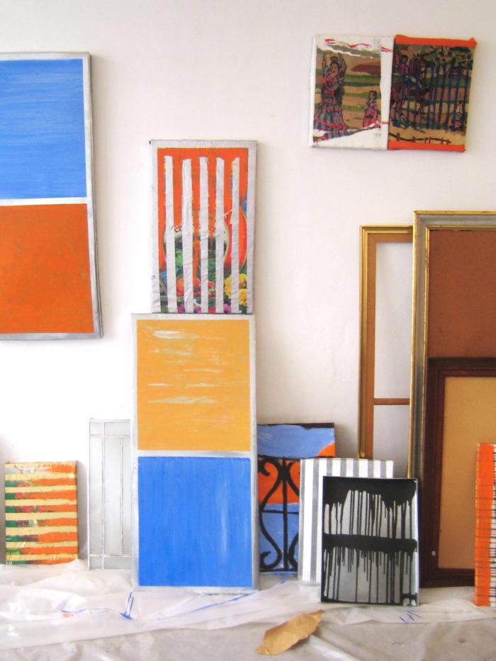 Vue de l'atelier de l'artiste Bernard Garcier
