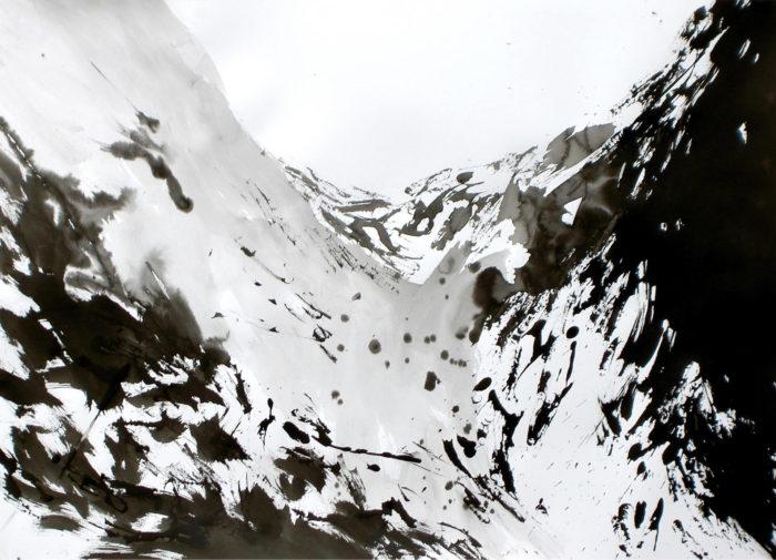 Michael Blank, dessin à l'encre de chine sur canson