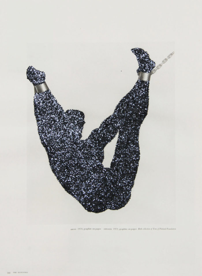 Pascal Lièvre, Body Sculpture, dessin recouvert de paillettes noires