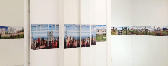 Murat Germen, vue de son installation photographie au Cube - independent art room rabat Maroc