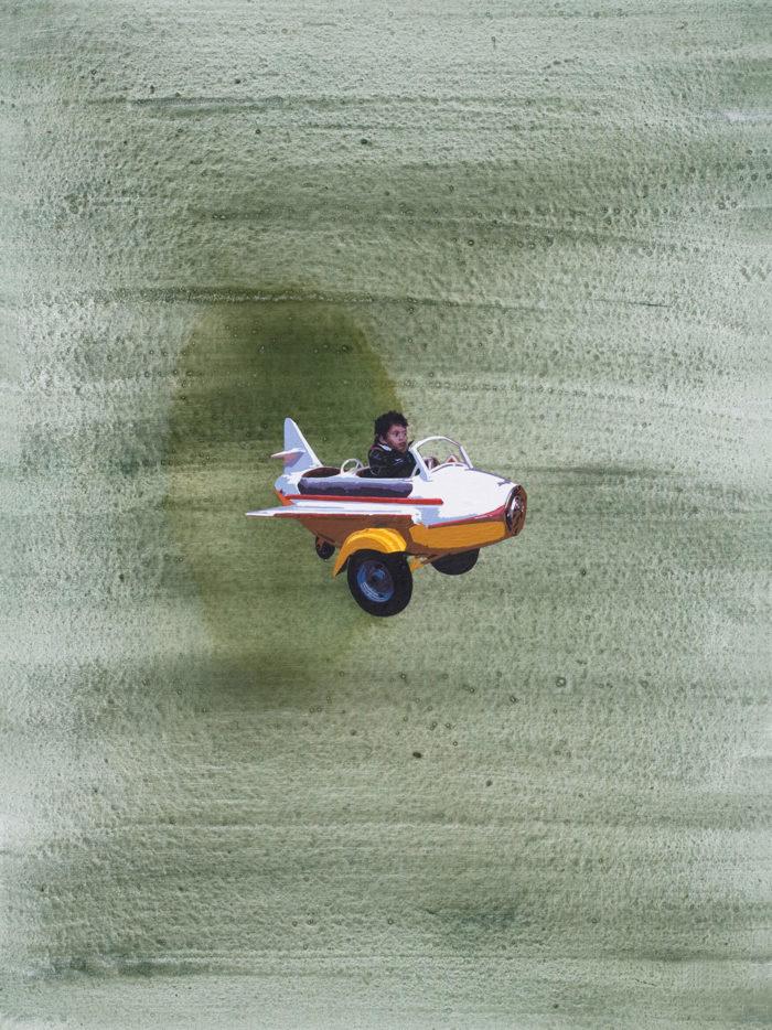 Hani Zurob flying lesson peinture gaza maroc rabat