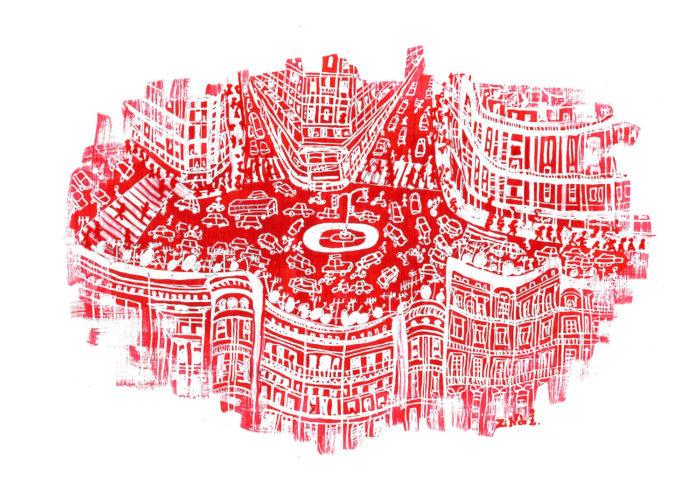 Zineb Benjelloun Mers Sultan dessin graphisme ville marocaine