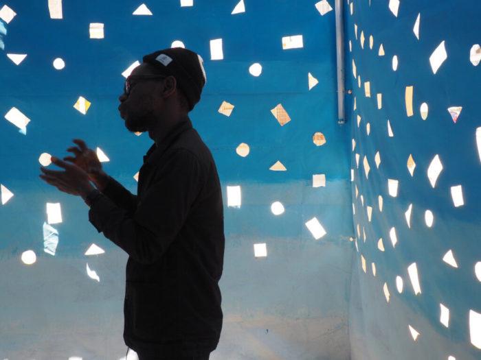 Privatisation d'un espace par son ciel with Cheikh Ndiaye (2016, Dakar).
