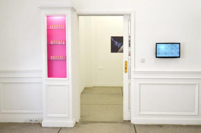 Mohammed Laouli labor of love eau de rose vidéo installation le cube rabat maroc