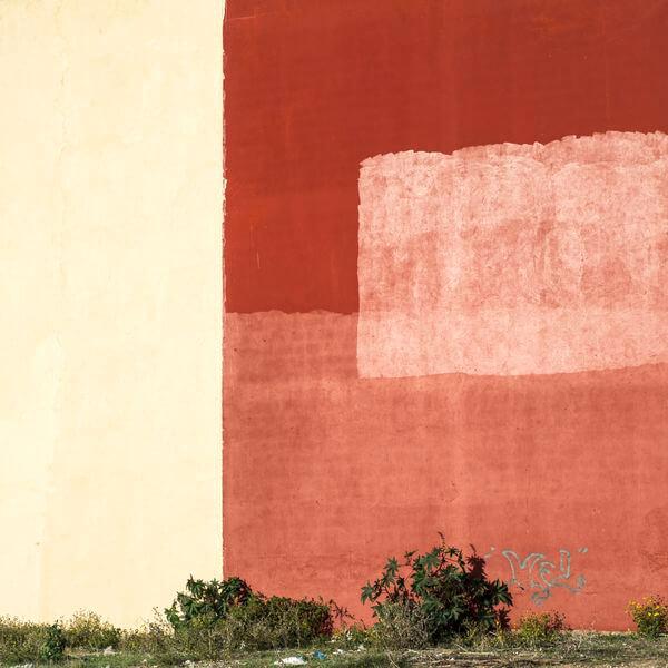 François Beaurain série Les Villas murs rouge Maroc