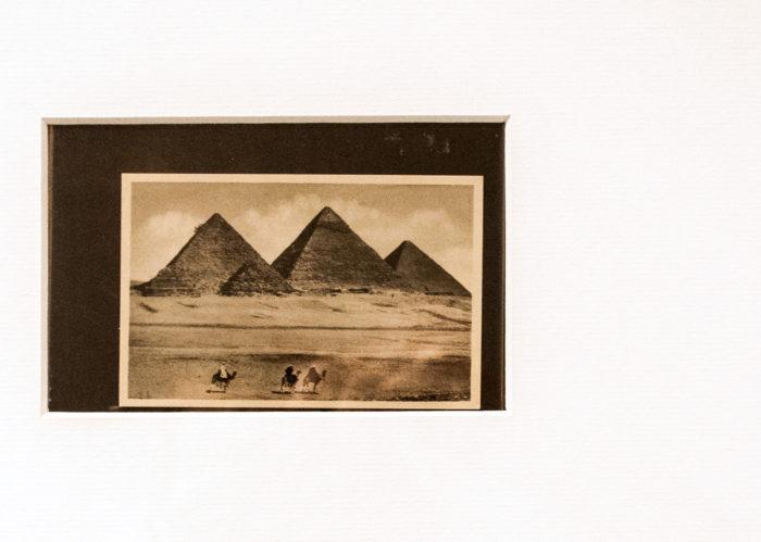WTNOTH Karima Boudou Soufiane Ababri détail d'une photographie touristique prise en Egypte au début du XIXème siècle