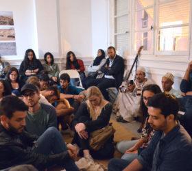 Gnawa jours et nuit de Julien Crespin et Chloé Despax, séance d'écoute au Cube - independent art room à Rabat