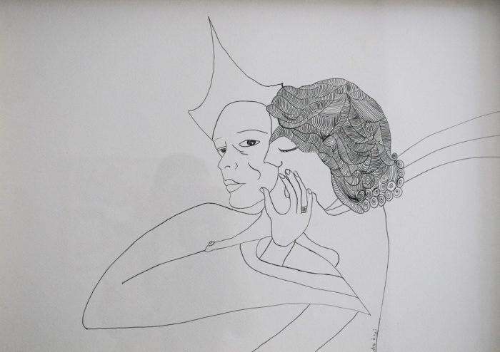 Touda Bouanani Les amoureux Touda Bouanani, 2014, exposition Il était une fois Galerie FJ, Casablanca_1920