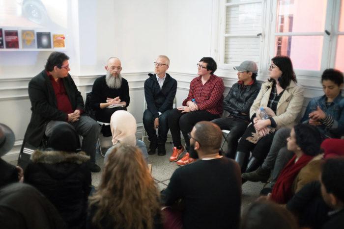 HERstory, rencontre avec Jean Zaganiaris et Frank Lamy au Cube - independent art room au Maroc