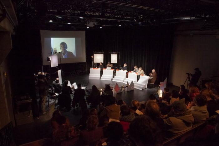 le peuple qui manque, Aliocha Imhoff et Kantuta Quiros, Au delà de l'Effet-Magiciens - colloque-performance - Courtesy Helena Hattmannsdorfer
