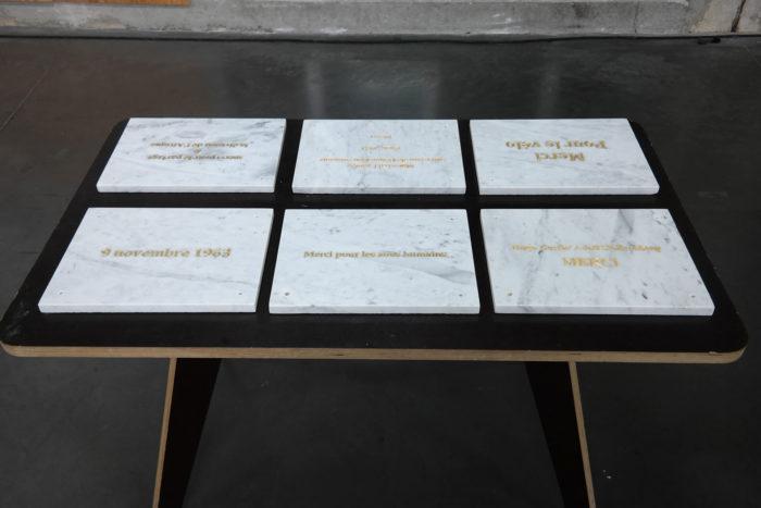 Mohammed Laouli, Exvoto, plaques de Marbres gravées (detail)