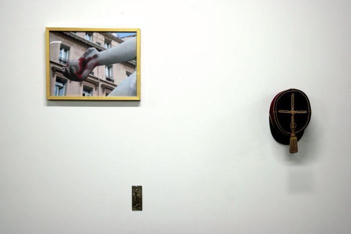 Mohammed Laouli, Exvoto,kepi,photographie (detail)