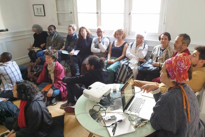 """Françoise Vergès, débat """"décolonisons les arts"""" au Cube à Rabat, Maroc"""