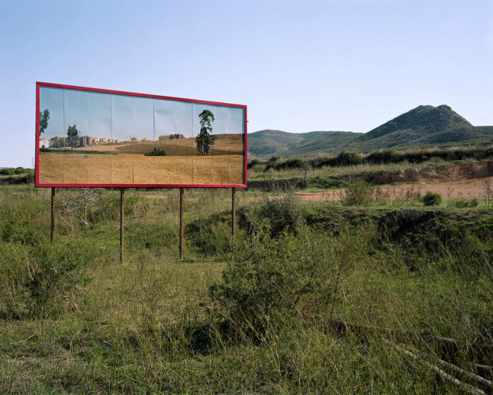 orinne Silva, New suburb of Tangier placed in former mining region La Unión, Murcia, from Imported Landscapes, 2010. Site specific installation and C-type photograph, 179 x 143 cm.