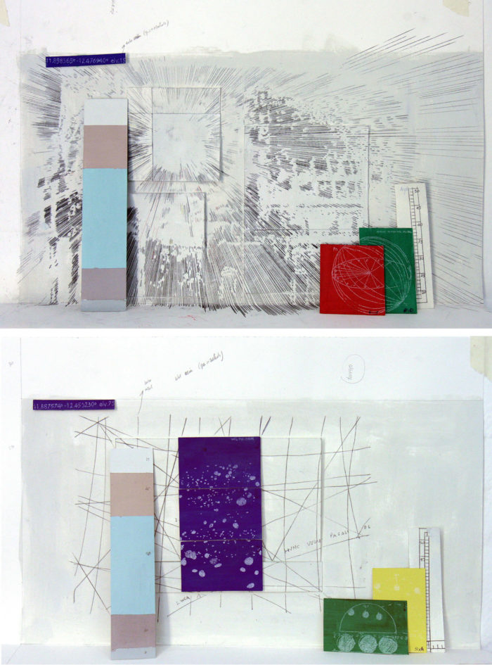 Laura F. Gibellini, Scale model for 'Atmospheres and Interruptions I' / Scale model for 'Atmospheres and Interruptions III'