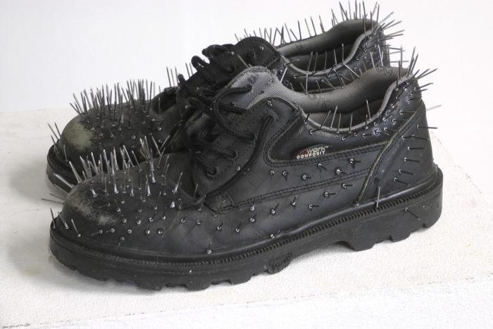 Badr El Hammami, chaussures et aiguilles, 2019