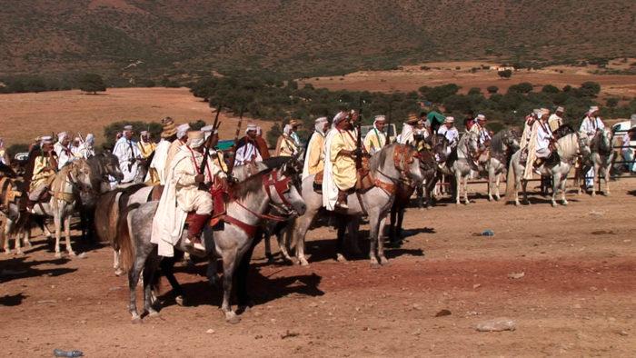 Yazid Ben Hounet, Fantasia, Cavaliers et fantasia lors de la wacda des Awlad Nahar