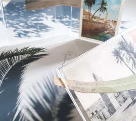 """Farah Khelil, """"point d'étape (effet de serre) in Vue d'exposition, Leave No Stone Unturned [Remuer la terre], curatée par Clelia Coussonnet au Cube-independent art room, 2019"""