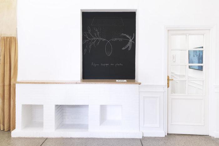 Vue d'exposition, Leave No Stone Unturned [Remuer la terre], curatée par Clelia Coussonnet au Cube-independent art room, 2019. Farah Khelil,