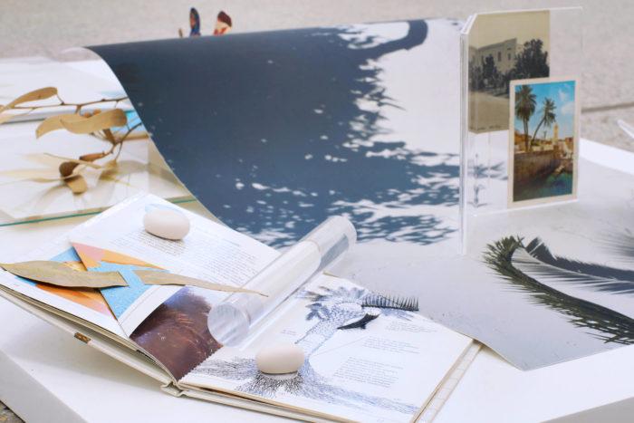 Vue d'exposition, Leave No Stone Unturned [Remuer la terre], curatée par Clelia Coussonnet au Cube-independent art room, 2019; Farah Khelil,