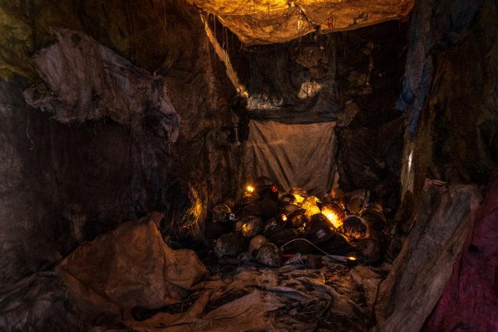 Mouhcine Rahaoui, artiste marocain qui travaille sur mes mines à Jerada