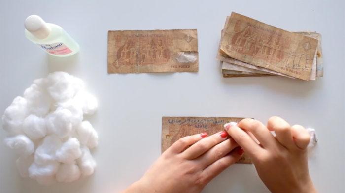 """Sokaina Joual, """"Banknote project"""" vidéo présentée par PROYECTOR pour Art Madrid 2020"""