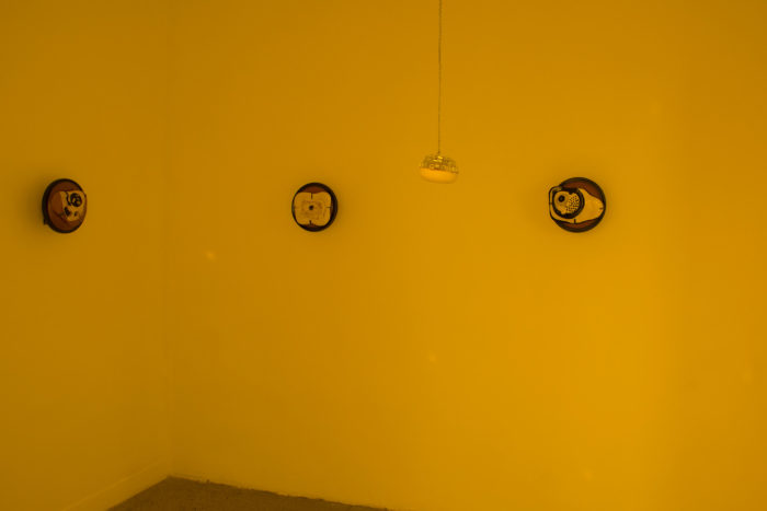 Vue de l'exposition «Eye Archive» de Camille Dumond au Cube – independent art room, à la suite de la résidence Studio Residency en partenariat avec Pro Helvetia Cairo.