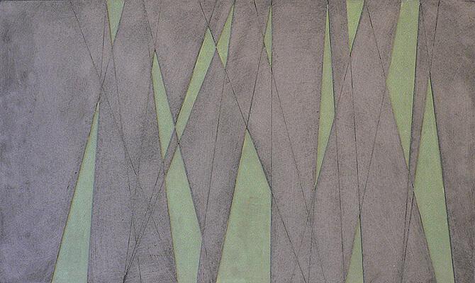 Fritz Ruprechter, Wachs Aquarell, cire sur aquarelle, carton gris sur panneau dur, 2006