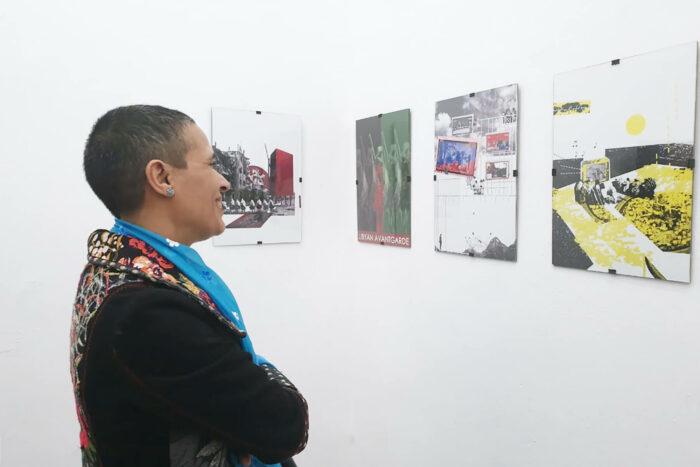 Vue de l'exposition Green Book au Cube, Tewa Bernosa, Sarri ElFaitourri, artistes libyens, durant travelling narratives
